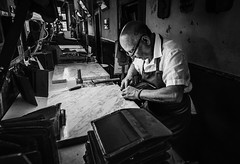 Florence-leather-shop-craftsman (mcook1517) Tags: leather craftsman firenze florence italy italia travel workman crafts history profession business dedication precision