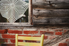 Details of an Old Wooden House (dejankrsmanovic) Tags: wooden wall architecture window embroidery retro vintage architectural structure closeup background detail ornament oldfashioned chair material pattern weathered lifestyle object stilllife glass domestic serbia balkans living dwelling frame