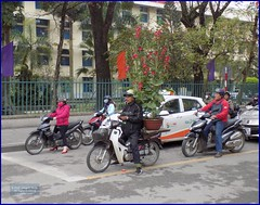 Vietnam, Hue Flower Delivery 20180213_112426 DSCN3197 (CanadaGood) Tags: asia asean seasia vietnam vietnamese hue tree fence scooter flowers motorcycle smoking people person taxi traffic canadagood 2018 thisdecade color colour honda