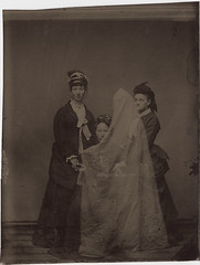 Tintype of Three Women and a Spirit (Photo_History - Here but not Happy) Tags: ghost spirit tintype haunting