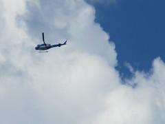 Chopper (jamica1) Tags: helicopter chopper clouds sky revelstoke bc british columbia canada blue