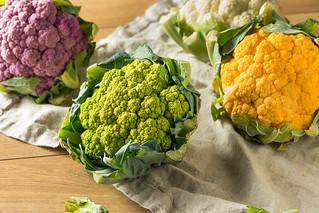 Raw Organic Multi Colored Cauliflower