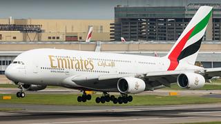 A6-EEI Emirates Airbus A380-861