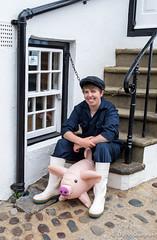 Hide the Piggy (daveseargeant) Tags: robin hoods bay leica x typ 113 portrait street seaside coast scene pig plastic