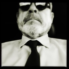 Self Portrait With Tie # IX (Sam_Sims) Tags: selfportraitwithtie9 selfportrait selfie blackandwhite thatsmeinthecorner reflections justpassingthrough thismagicmoment buscandocuca iphone ipad samiam281 samsims