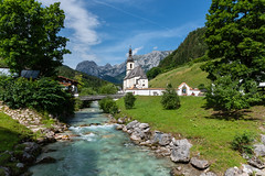 Ramsau Bei Berchtesgaden   *explore* (sarah_presh) Tags: germany bavaria berchtesgaden ramsaubeiberchtesgaden holiday vacation pretty church mountain river water outdoor nikond750