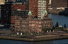 Summer vibes, Rotterdam (reinaroundtheglobe) Tags: rotterdam hotelnewyork highangleview summer people sunlight nederland architecture archesnationalpark hollandamericaline closeup city cityscape avond