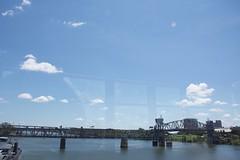 2018 August 7, North Little Rock Nikon D7200 (King Kong 911) Tags: arkansasriver bridges1 building riding2 train1 trolley