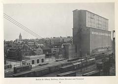 Boston & Albany Railway, Grain Elevator and Terminal (State Library of Massachusetts) Tags: bostonalbanyrailroad railway railroad boxcars buildings grainelevator terminal boston massachusetts