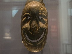 Festival mask, Vanuatu, 1700s-1800s (Emma Nibaru) Tags: nikon nikond7200 london britishmuseum archeology mask terracotta ancient turquoise cultures