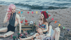 (mimiau_m) Tags: bjd asian doll summer beach sea supia rosy recast outdoors dollshe hound pinkhair