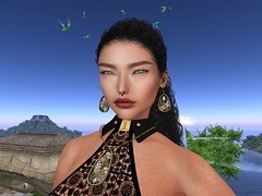 Empyrean Forge Artisan Mesh Juno Necklace and Earrings (Unvarnished Fashion) Tags: secondlife asteria bodysuit empyreanforge fetishfair collabor88 belt necklace earrings blog shop