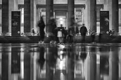 Please proceed to the exit, the museum is now closed (PeterThoeny) Tags: london unitedkingdom uk britishmuseum museum architecture building people blur motion motionblur reflection wetreflection water waterreflection night longexposure monochrome blackandwhite sony sonya7 a7 a7ii a7mii alpha7mii ilce7m2 fullframe fe2870mmf3556oss 1xp raw photomatix hdr qualityhdr qualityhdrphotography fav100