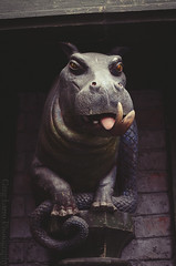 Universal Orlando - Magical Creature statue on Diagon Alley (Greg Larro Photography) Tags: diagonalley diagon alley london uk wizardingworld wizard witch jkrowling wb warnerbros warnerbrothers harrypotter fantasy themepark park attraction fun magic magical creature hippo reptile
