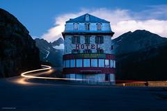 pull a trail (Foto_Fix_Automat) Tags: alpen schweiz gletscher rhone berge mountains explorer langzeitbelischtung motorrad nacht strase
