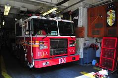 FDNY Ladder 104 (Triborough) Tags: ny nyc newyork newyorkcity kingscounty brooklyn williamsburg fdny newyorkcityfiredepartment firetruck fireengine ladder ladder104 seagrave tiller tda