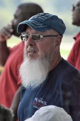 2018-08-04 (2) bearded fan at Laurel Park (JLeeFleenor) Tags: photos photography md maryland marylandhorseracing laurelpark fans people outside outdoors