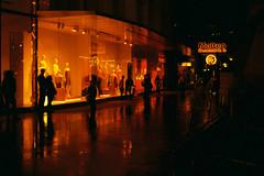 (Hem.Odd) Tags: kualalumpur malaysia store street pedestrians redscale red night lowlight canonae1program lomography lomo fd50mmf18