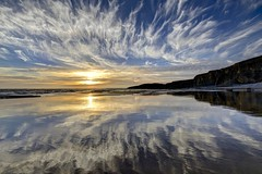 I'm still in love with you (pauldunn52) Tags: traeth mawr glamorgan heritage coast wales sky clouds sunset reflections beach wet sand