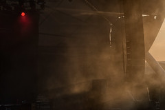 Mechanical Fog (pni) Tags: fog pasystem loudspeaker stage lamp light red sunlight construction nightoftheprog xiii amphitheater freilichtbühne loreley lorelei ger18 germany deutschland pekkanikrus skrubu pni