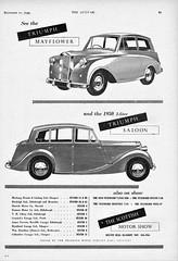 1950 Triumph Mayflower & 2-Litre Saloon (aldenjewell) Tags: 1950 triumph mayflower 2litre saloon ad