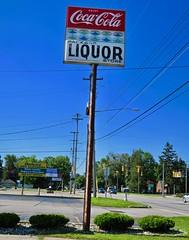 Liquor Store, Saginaw, MI (Robby Virus) Tags: saginaw michigan mi liquor store business package cocacola coke sign signage soft drink booze alcohol