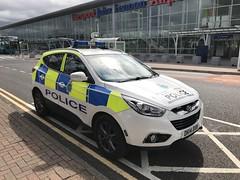 Merseyside Police - Hyundai Police Car - John Lennon Airport, Liverpool. (firehouse.ie) Tags: polizei polizia politi polis policia constabulary cops cop dk14dxw hyundai patrol automobile l'auto coche car police merseysidepolice merseyside liverpool johnlennonairport