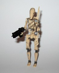 battle droid sliced version star wars episode 1 the phantom menace collection 1 basic action figures 1999 hasbro k (tjparkside) Tags: battle droid sliced version star wars episode 1 phantom menace collection basic action figures 1999 hasbro slash slice damage droids one tpm figure versions variant variants backpack blaster pistol pistols blasters trade federation army foot soldier soldiers commtech chip display stand base roger