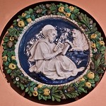 Medallions with St. John the Evangelist, St. Luke the Evangelist, St. Mark the Evangelist, St. Matthew the Evangelist (1519-1517) - Attributed to the Della Robbia workshop, Andrea della Robbia with Giovanni della Robbia thumbnail