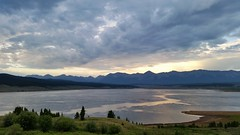 Threatening Skies in Taylor Park (Patricia Henschen) Tags: taylor reservoir park river mountain mountains sawatch range clouds skies sunset reflection lake shoreline summer overcast gunnison colorado nationalforest road roadside backroad