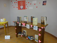 National Book Lover's day alcove display
