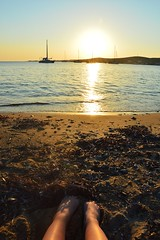 DSC_0137 (JustineChrl) Tags: parikia paros island sunset village landscape beautiful summer holidays greece nikon sky blue white pink flowers house beach