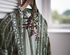 When it rains... (V Photography and Art) Tags: dress lace embroidery hanger lavender rainyday home