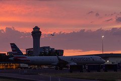 PDX Sunset-105 (Aaron A Baker) Tags: pdx sunset portland international airport american airlines air cargo plane tower control traffic pnw pacific north west clouds pink orange oregon columbia river
