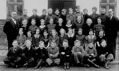 Class photo (theirhistory) Tags: children boy kid girl teacher jumper trousers wellies shoes rubberboots