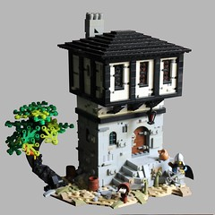 Guard House (gruja2) Tags: architecture castle fantasy landscape bricks creation moc historical medieval lego minifigures knights kingdom house history l