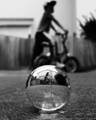 Bike riding with my baby boy (Anthony. B) Tags: nikon d7000 35mm18g lensball photography streetphotography kids blackandwhite black white bw portrait bokeh bike