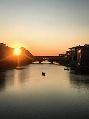 Florence ponte vecchio (gregorycanal) Tags: sunset arno renaissance architecture italia italie toscane toscana pontevecchio firenze florence