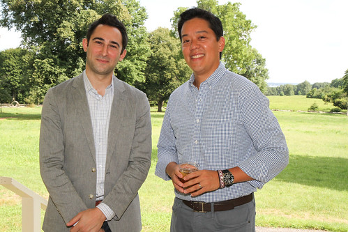 Author Eric Jaffe and JHC Board Member Ben Mao