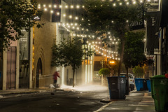 clean up on shoppers aisle 10 (pbo31) Tags: bayarea california nikon d810 color august 2018 summer boury pbo31 urban city sanfrancisco lightstream motion motionblur roadway night dark black maidenlane clean wash power alley shop unionsquare latenight garbage