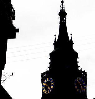 Siluette Stiftskirche  Tübingen -  Scherenschnitt, aka  silhouette, siluette ,silueta, Schattenriss.