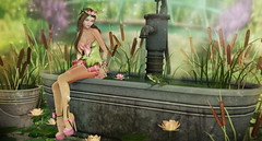 The Pond (kynne L.) Tags: event enchantment sl second life secondlife fantasy outfit clothes dress mesh maitreya belleza slink hourglass irrisistible fashion design frog princess women appliers magic