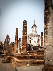 Temple Buddha Statue  in Sukhothai Historical Park,Thailand (www.icon0.com) Tags: ancient architecture art asia ayutthaya bangkok beautiful beauty brick buddha cambodia chiang colorful culture destinations figurehead historical india lagoon landscape light lilly lotus mai mirror nature old outdoor pagoda park phuket reflex sculpture sky statuary statue sukhothai sunrise sunset temple textures thailand tourism travel twilight view viewpoint vintage wat water