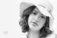 A Girl with a White Hat (SteveFrazierPhotography.com) Tags: model modeling chrissy hat monochrome beautiful stevefrazierphotography 2018 summer outdoor outside naturallight bw blackandwhite woman younglady photographer macomb illinois pretty cute gorgeous young lady girl
