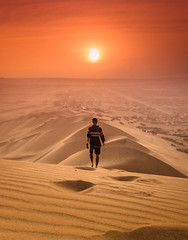 SUNSET ㄨ HUACACHINA (ThibaultPoriel) Tags: pérou peru desierto désert ica dunes sand sunset sun colors light oneperson travel voyage southamerica amériquedusud lumixgh5 huacachina outdoors landscape sundown view
