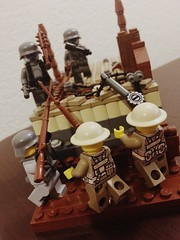 Trench Raid Germans vs British! (thelameguitarist) Tags: lego ww1 german british stormtroopers trenches raid brickmania