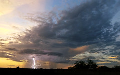 Last Strike (northern_nights) Tags: widefield sunset thunderstorm lightning composite stacked vail arizona yi4kactioncam rain rainshaft