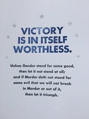 Victory poster (artnoose) Tags: tolkien quote mordor type blue star silver etsy print poster seven stars gondor letterpress lotr