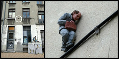 Isaac Cordal @ The Crystal Ship 2016 (Linda DV) Tags: ribbet lindadevolder lumix belgium oostende ostend thecrystalship wwwthecrystalshiporg streetart 2018 geotagged urbanart collage isaaccordal httpcementeclipsescom cementeclipses ostende belgiancoast panasonic city