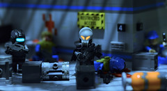 - M A R A U D E R S - (~J2J~) Tags: lego brickarms aliens space shadow glow raid brickwarriors station minifigs minifigure photography attack effects scene